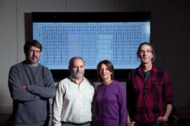 From left, Jim Lathrop, Jack Lutz, Robyn Lutz and Eric Henderson